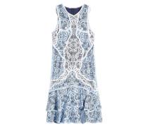 Ärmelloses Kleid mit Baumwolle und Spitze