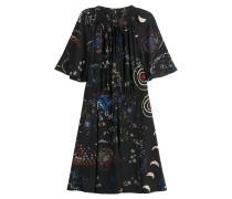 Bedrucktes Kleid Astro Couture aus Seide