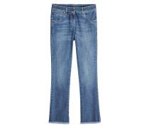 Cropped Straight Leg Jeans aus Baumwolle