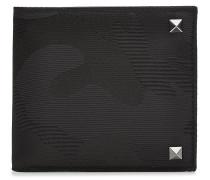 Camouflage-Portemonnaie mit Leder und Nieten