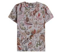 Baumwoll-Shirt mit Fantasietier-Print