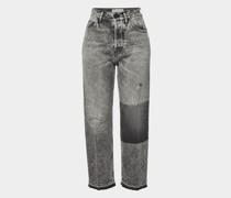 Straight Leg Jeans aus Baumwolle