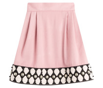 Verzierter Flared-Skirt aus Wolle