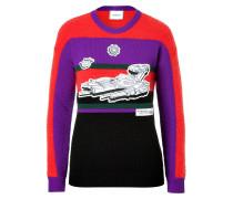 Streifen-Pullover aus Wolle und Mohair