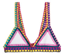 Bikini-Top mit Häkeldetails