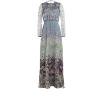 Maxi-Kleid aus Seide mit Print