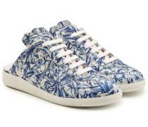 Bedruckte Leder-Sneakers Replica mit offener Ferse