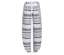 Geschlitzte Wide Leg Pants aus gemusterter Baumwolle