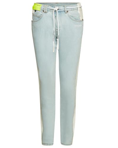 Slim Jeans mit Fleece-Einsätzen