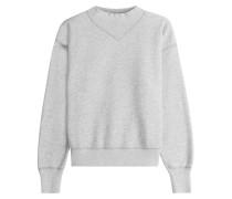 Sweatshirt aus Baumwolle mit Stehkragen