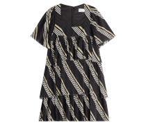 Baumwoll-Kleid mit Streifen und Volants