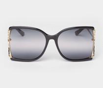 Sonnenbrille mit Brand-Details