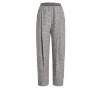 Cropped Wide Leg Pants aus Alpaka, Wolle und Kaschmir