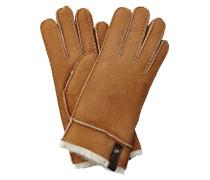 Handschuhe aus Veloursleder und Lammfell
