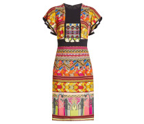 Bedrucktes Kleid mit Stickereien