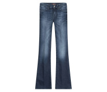 Flared-Pants aus Denim-Stretch