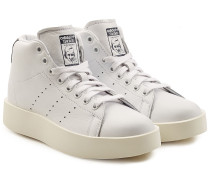 Plateau-High Top Sneakers Stan Smith Bold aus Leder