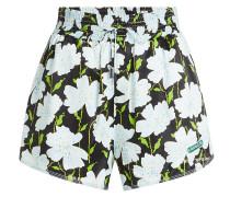 Bedruckte High Waist Shorts