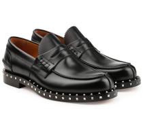 Leder-Loafers Rockstud mit Nieten