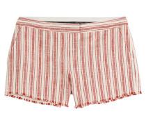 Gestreifte Shorts aus Baumwolle und Leinen