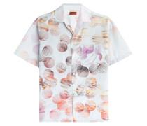 Print-Hemd aus Baumwolle und Seide