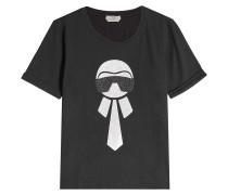T-Shirt aus Baumwolle mit Glitter Print