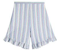 Gestreifte High Waist Shorts aus Baumwolle