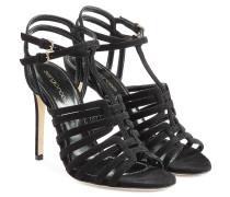 Stiletto-Sandalen aus Veloursleder
