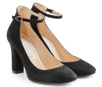 Mary-Jane-Pumps aus Veloursleder