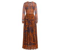 Bodenlanges Kleid aus Baumwolle