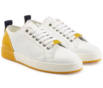 Sneakers aus Leder im Two Tone Look
