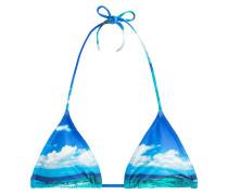 Neckholder-Bikini-Top mit Print