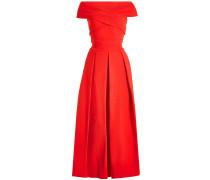 Off-Shoulder-Kleid Virginia aus Satin