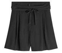 Crêpe-Shorts mit Schleife