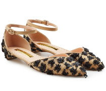 Bestickte Riemchen-Schuhe