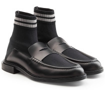 Loafers mit Leder und hohem Schaft