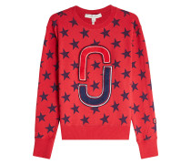 Bedrucktes Sweatshirt aus Baumwolle mit Applikation