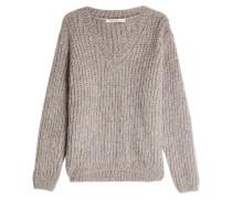 V-Pullover mit Wolle und Mohair