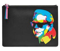 X Steven Wilson Clutch mit Leder und Print
