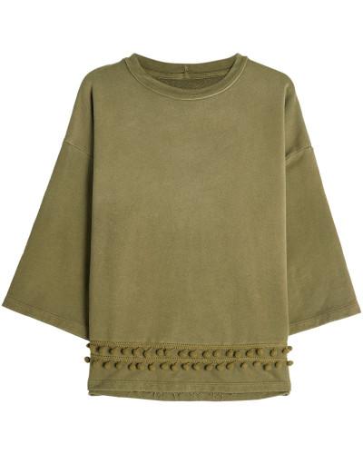 Sweatshirt aus Baumwolle mit Décor