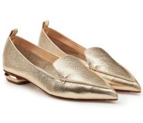 Spitze Loafers Beya aus beschichtetem Leder