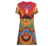 Bedrucktes Kleid Volcano aus Schurwolle und Seide