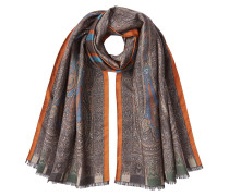 Print-Schal aus Wolle und Seide