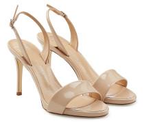 Riemchen-Sandalen aus Leder mit Stiletto-Heel