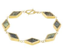 Vergoldetes Silberarmband mit Chrysokoll