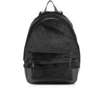 Backpack aus Leder mit Fell