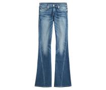 Flared-Jeans aus Baumwoll-Stretch
