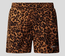 Shorts mit Animal-Print
