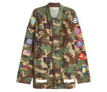 Camouflage-Jacke aus Baumwolle mit Patches