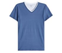 T-Shirt im Layering Look aus Baumwolle